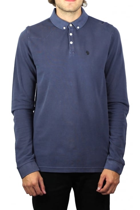 Luke 1977 Long Basking Long-Sleeved Polo Shirt (Dark Navy)