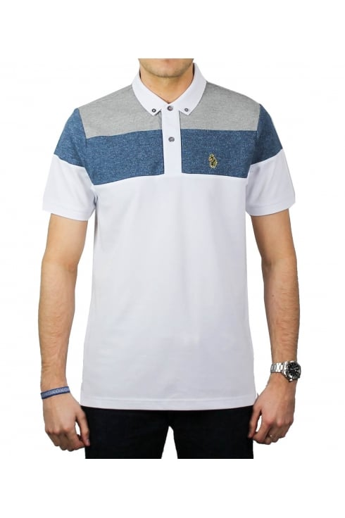 Luke 1977 mickey spacers polo shirt white mix thirtysix for Luke donald polo shirts