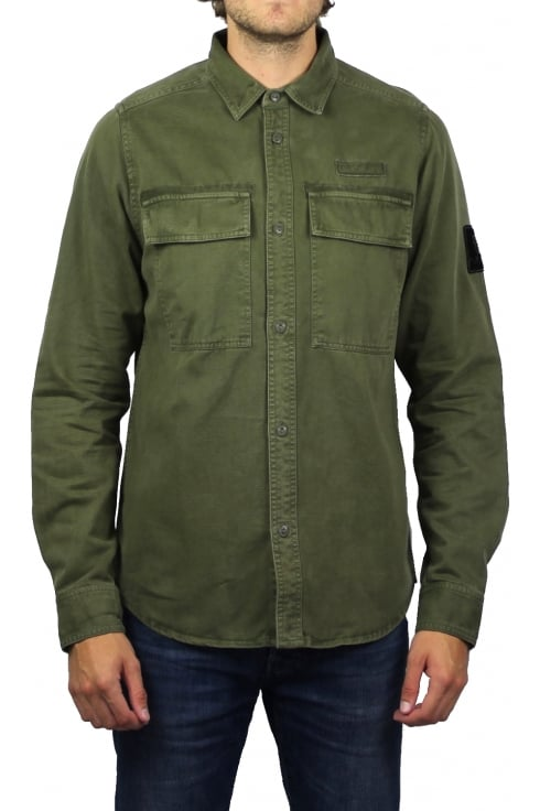 Luke 1977 Noir Overshirt (Dark Moss)