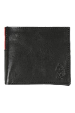 Wade Bi-Fold Leather Wallet (Black)