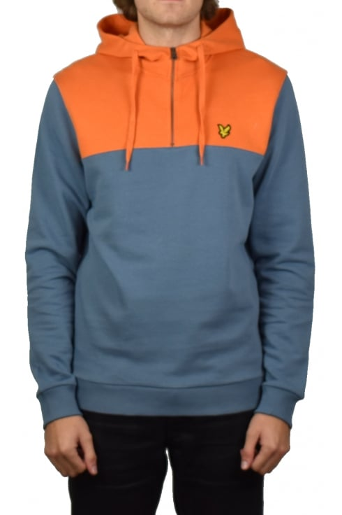 Lyle & Scott 1/4 Zip Hoody (Mist Blue)