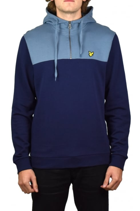Lyle & Scott 1/4 Zip Hoody (Navy)