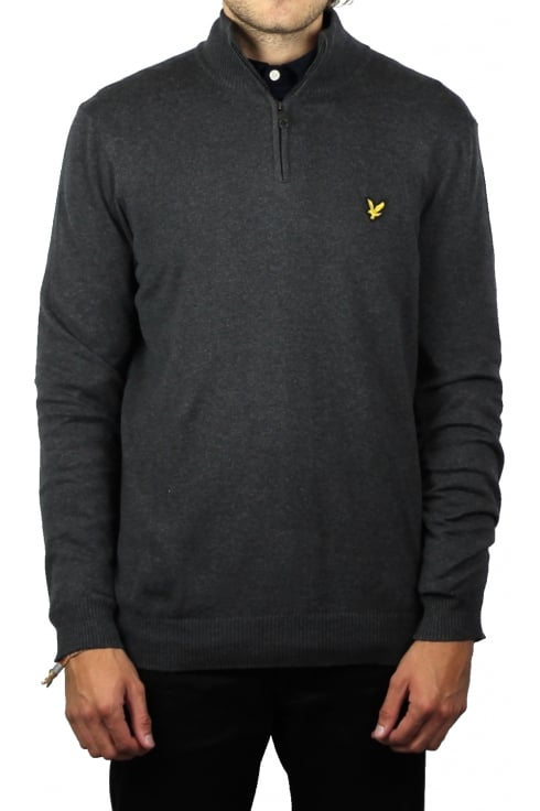 Lyle & Scott 1/4 Zip Merino Blend Jumper (Charcoal Marl)