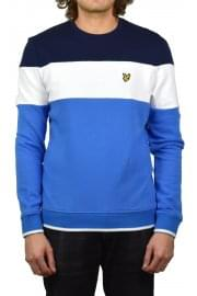 Block Stripe Sweatshirt (Topaz Blue)
