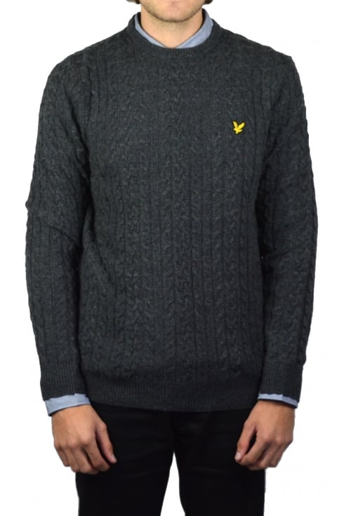 Lyle & Scott Cable Knit Jumper (Charcoal Marl)