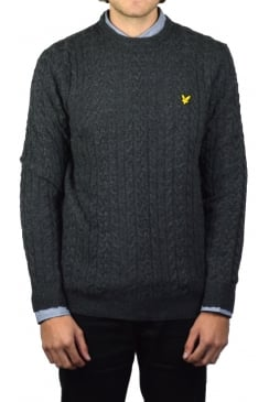 Cable Knit Jumper (Charcoal Marl)