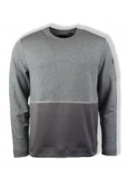 Casuals Fabric Mix Sweatshirt (Mid Grey Marl)