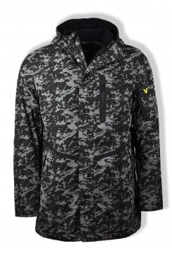 Casuals Parka Jacket (True Black Print)