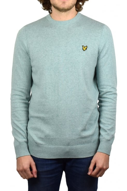 Lyle & Scott Crew-Neck Cotton Merino Jumper (Powder Blue Marl)