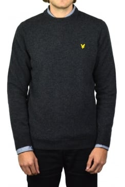 Crew-Neck Lambswool Jumper (Charcoal Marl)