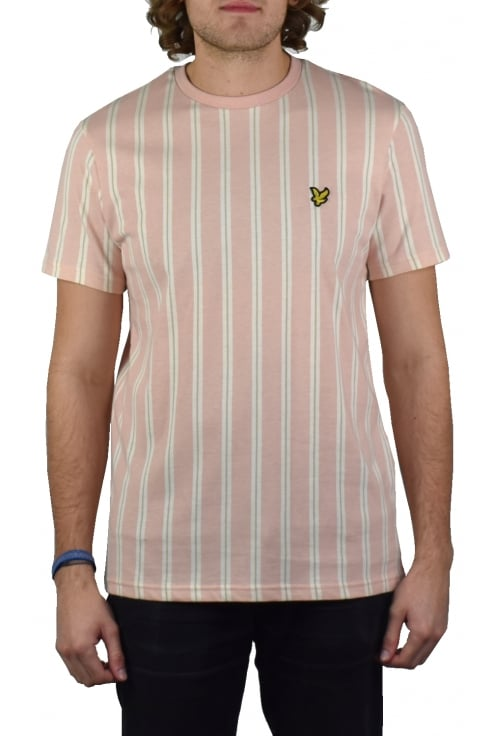 Lyle & Scott Deckchair Stripe T-Shirt (Dusty Pink)