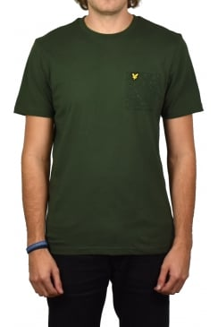 Flecked Pocket T-Shirt (Leaf Green)