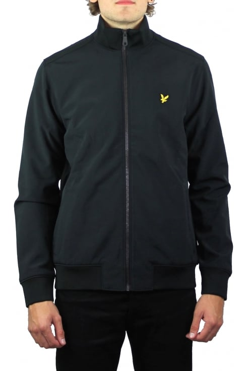 Lyle & Scott Funnel Neck Soft Shell Jacket (Black)