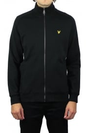 Funnel Neck Zip Through Sweatshirt (Black)