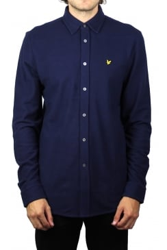 Honeycomb Jersey Shirt (Navy)
