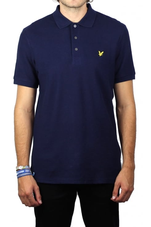 Lyle & Scott Honeycomb Polo Shirt (Navy)