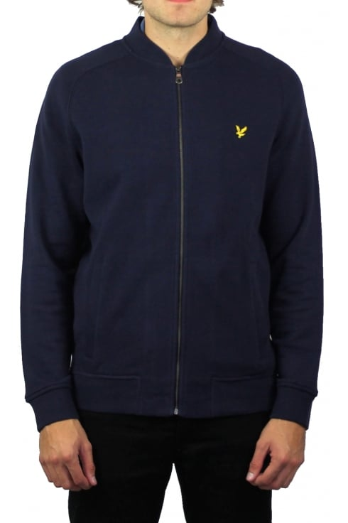 Lyle & Scott Honeycomb Stitch Bomber (Navy)