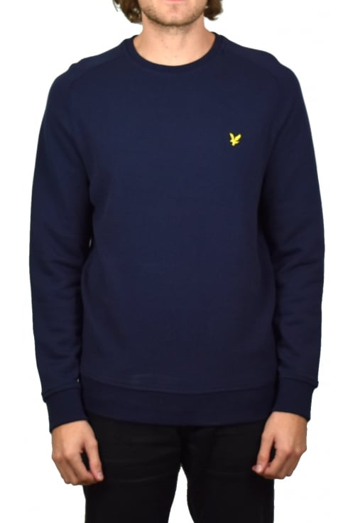 Lyle & Scott Honeycomb Stitch Sweatshirt (Navy)