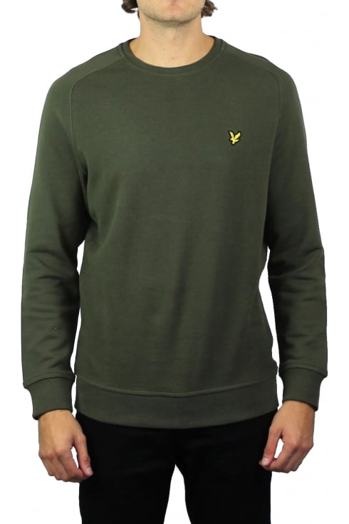 Lyle & Scott Honeycomb Stitch Sweatshirt (Olive)