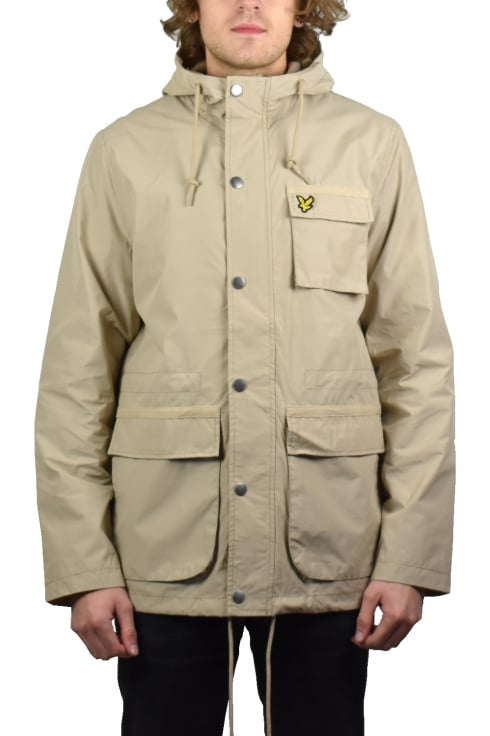 Lyle & Scott Hooded Jacket (Light Stone)