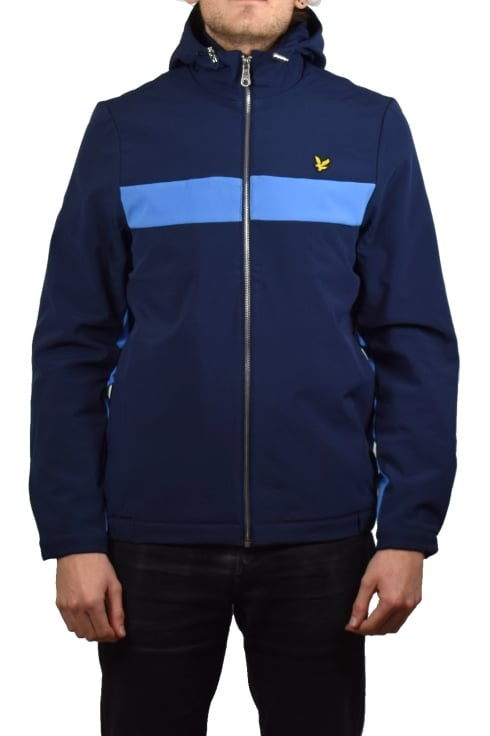 Lyle & Scott Hooded Softshell Colour Block Jacket (Navy)