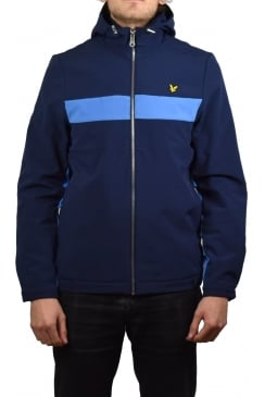 Hooded Softshell Colour Block Jacket (Navy)