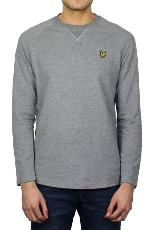 Lyle & Scott Lightweight Crew-Neck Sweatshirt (Mid Marl Grey)