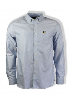 Long-Sleeved Cotton Oxford Shirt (Riviera)