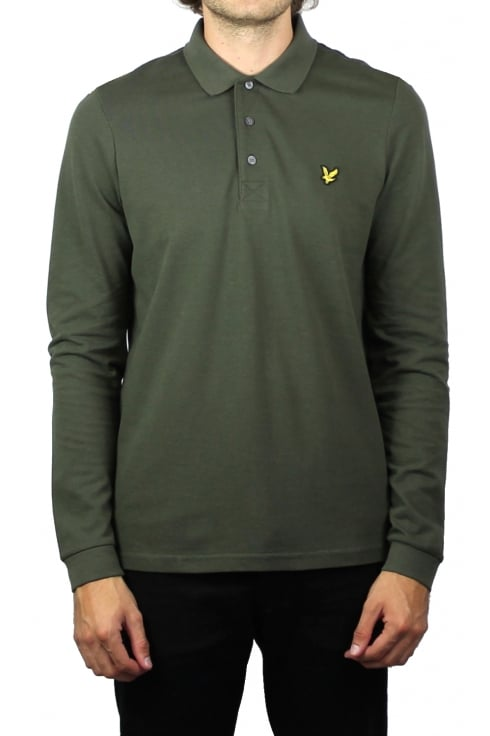 Lyle & Scott Long-Sleeved Polo Shirt (Olive)