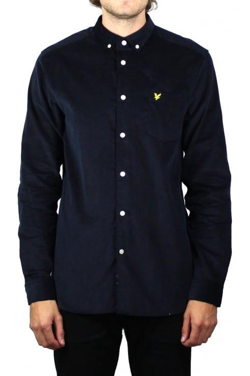 Lyle & Scott Mini Cord Shirt (Navy)