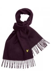 Plain Lambswool Scarf (Deep Plum)