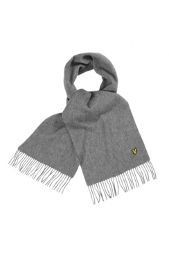 Plain Lambswool Scarf (Mid Marl Grey)