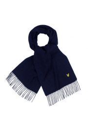 Plain Lambswool Scarf (New Navy)