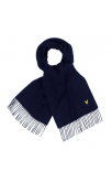 Lyle & Scott Plain Lambswool Scarf (New Navy)