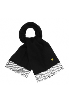 Plain Lambswool Scarf (True Black)