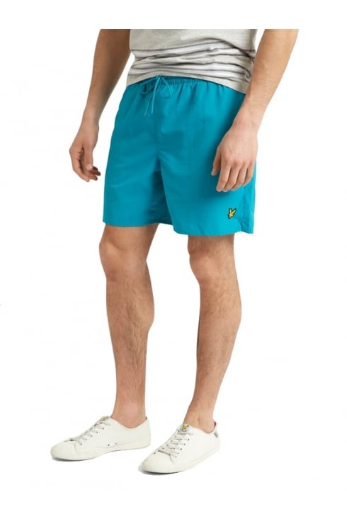 Lyle & Scott Plain Swim Shorts (Aqua Green)