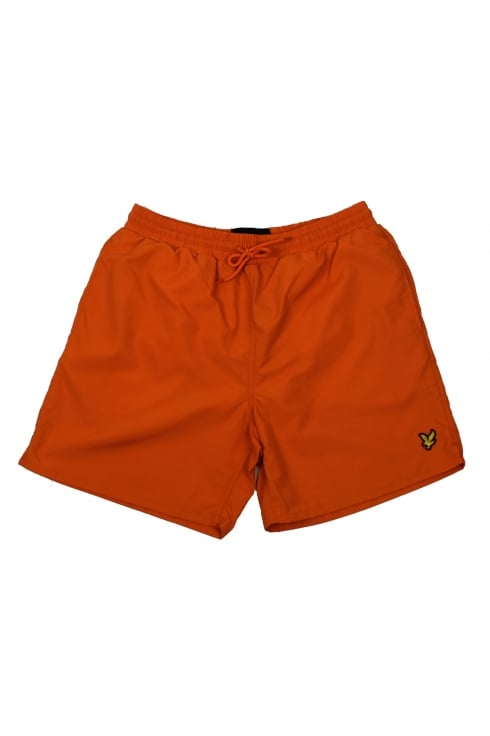Lyle & Scott Plain Swim Shorts (Fox Orange)