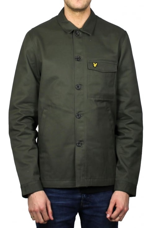 Lyle & Scott Shirt Jacket (Dark Sage)