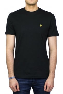 Short-Sleeved Crew Neck T-Shirt (Black)