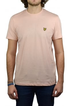 Short-Sleeved Crew Neck T-Shirt (Dusty Pink)