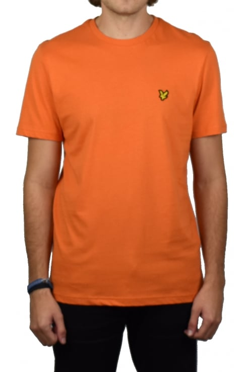 Lyle & Scott Short-Sleeved Crew Neck T-Shirt (Fox Orange)