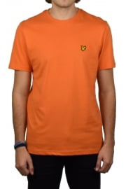 Short-Sleeved Crew Neck T-Shirt (Fox Orange)