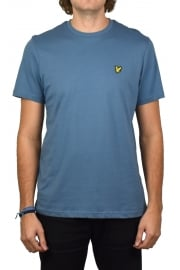 Short-Sleeved Crew Neck T-Shirt (Mist Blue)