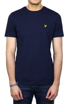 Short-Sleeved Crew Neck T-Shirt (Navy)