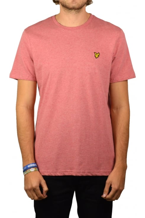 Lyle & Scott Short-Sleeved Crew Neck T-Shirt (Pomegranate Marl)