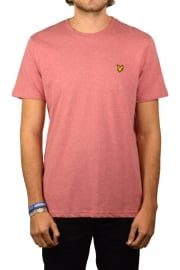 Short-Sleeved Crew Neck T-Shirt (Pomegranate Marl)
