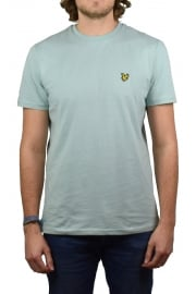 Short-Sleeved Crew Neck T-Shirt (Powder Blue)