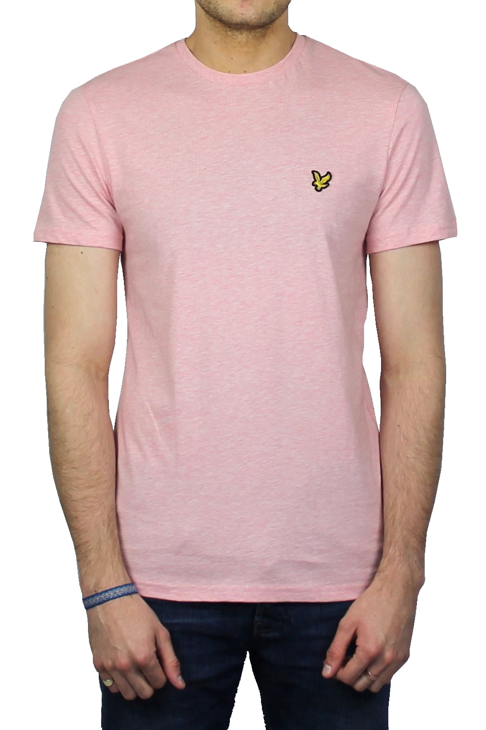 Lyle & Scott Short-Sleeved Crew Neck T-Shirt (Soft Pink) | ThirtySix
