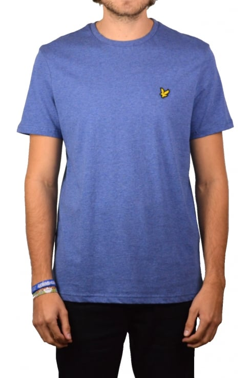Lyle & Scott Short-Sleeved Crew Neck T-Shirt (Storm Blue Marl)