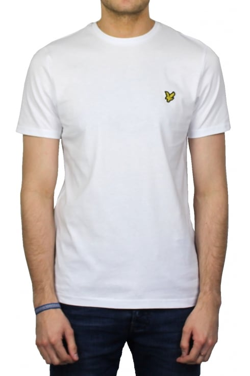 Lyle & Scott Short-Sleeved Crew Neck T-Shirt (White)